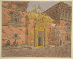The Golden Gate in the Durbar, or Royal Palace, Bhatgaon (Nepal)